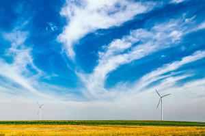 sky clouds wind windmill