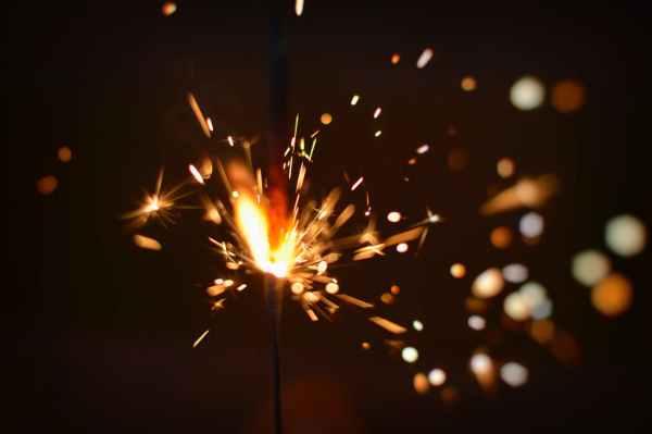 sparks of firecracker