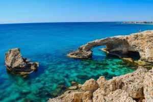 bay beach blue cliff