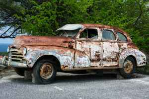 broken car vehicle vintage