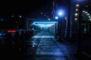 city lights night street