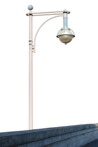city lights daylight iron lamppost