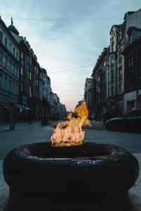 fire in fire pit